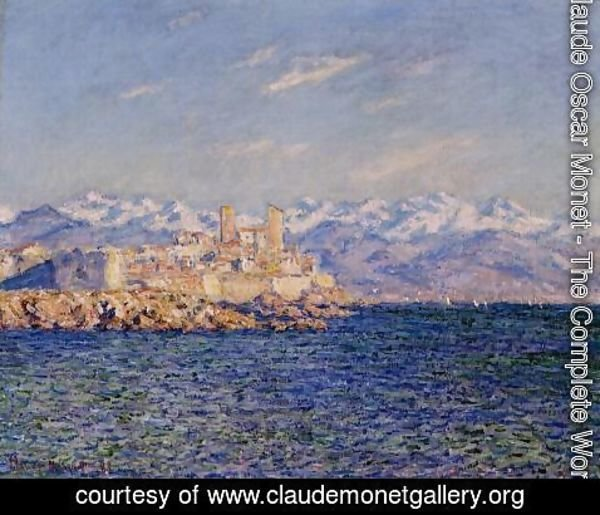 Claude Oscar Monet - Antibes, Afternoon Effect