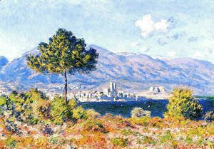 Claude Oscar Monet - View of Antibes from the Plateau Notre-Dame