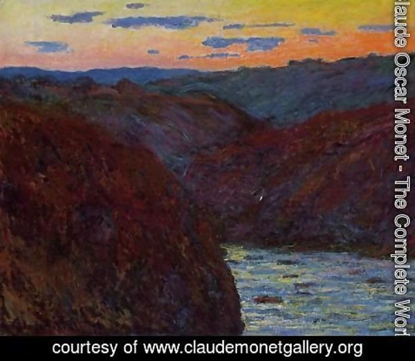 Claude Oscar Monet - Valley of the Creuse, Sunset