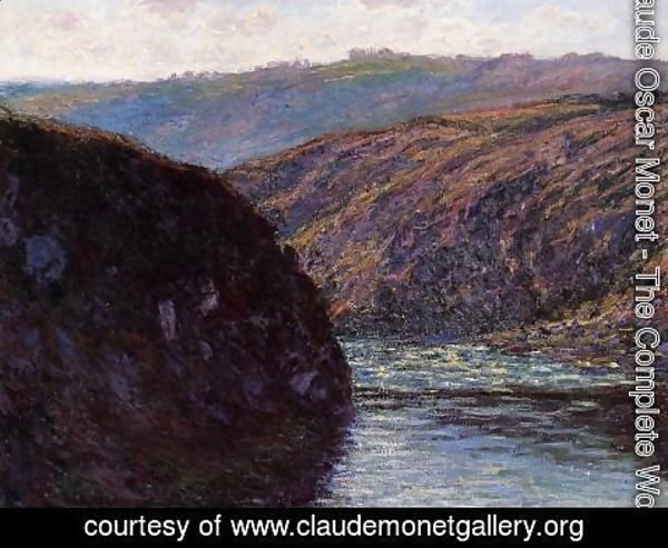 Claude Oscar Monet - Valley of the Creuse, Afternoon Sunlight