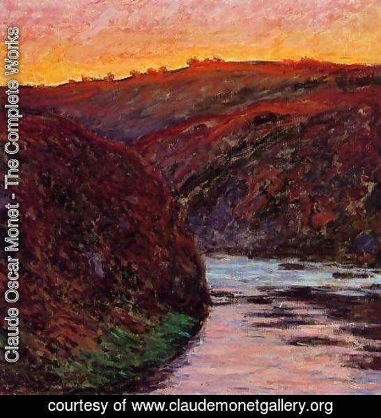 Claude Oscar Monet - Valley of the Creuse, Sunset I