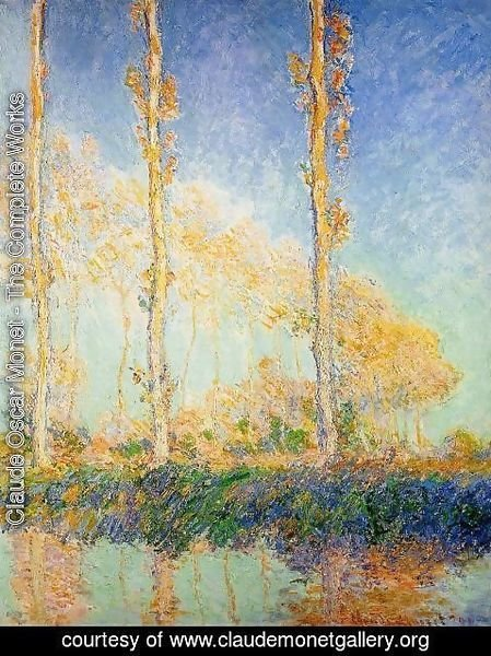 Claude Oscar Monet - Three Poplar Trees in the Autumn