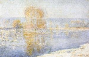 Claude Oscar Monet - Floating Ice at Bennecourt