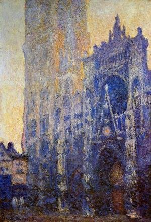 Claude Oscar Monet - Rouen Cathedral, the Portal, Morning Effect