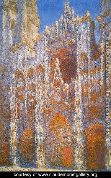 Claude Oscar Monet - Rouen Cathedral, Sunlight Effect