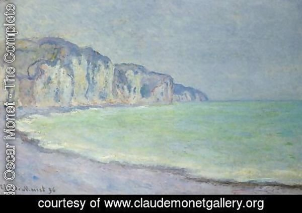 Claude Oscar Monet - Cliff at Pourville