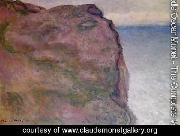 Claude Oscar Monet - Cliff at Petit Ailly, at Varengeville