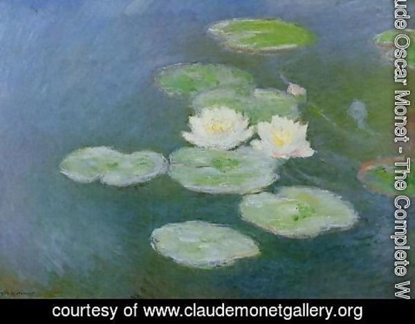 Claude Oscar Monet - Water-Lilies, Evening Effect
