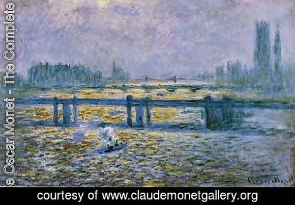 Claude Oscar Monet - Charing Cross Bridge, Reflections on the Thames