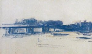 Claude Oscar Monet - Charing Cross Bridge (study)