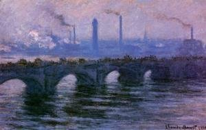 Claude Oscar Monet - Waterloo Bridge, Overcast Weather