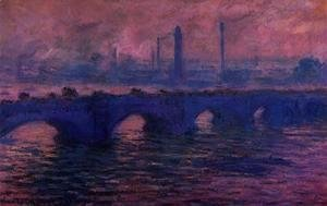 Claude Oscar Monet - Waterloo Bridge, Overcast Weather I