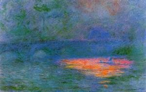 Claude Oscar Monet - Waterloo Bridge, Misty Weather