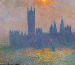 Claude Oscar Monet - Houses of Parliament, Effect of Sunlight in the fog