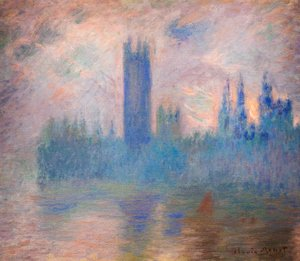 Claude Oscar Monet - Houses of Parliament, London, Symphony in Rose