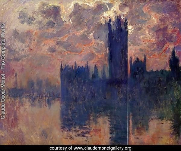 Houses of Parliament, Sunset (detail)