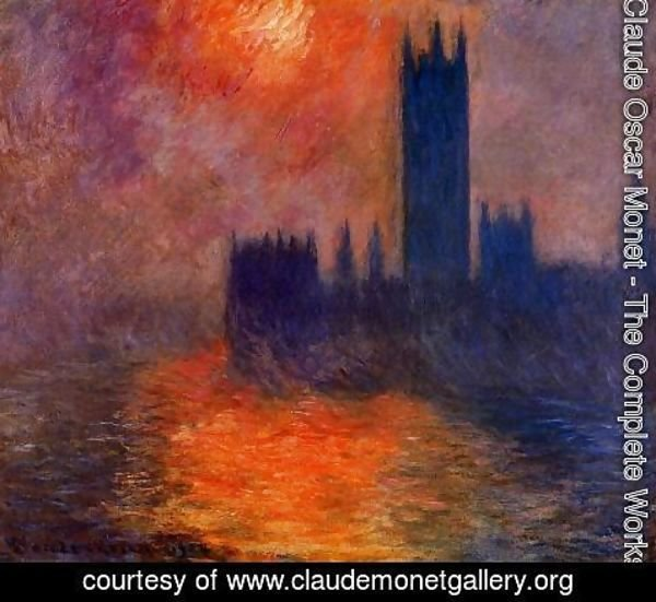 Claude Oscar Monet - Houses of Parliament, Sunset I