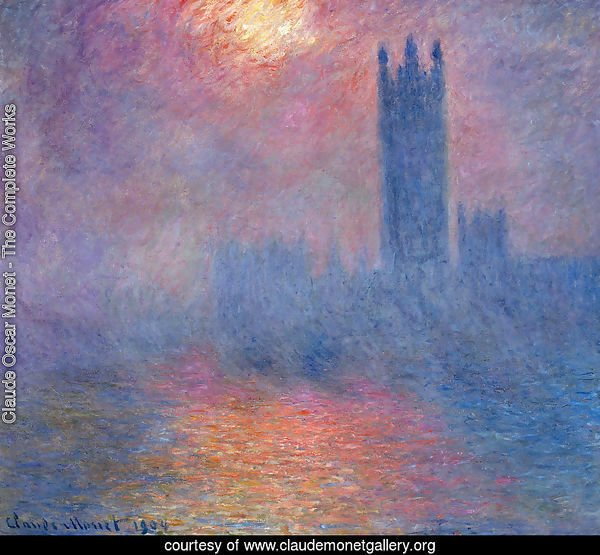 Houses of Parliament, Effect of Sunlight in the Fog I