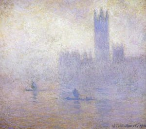 Claude Oscar Monet - Houses of Parliament, Fog Effect I