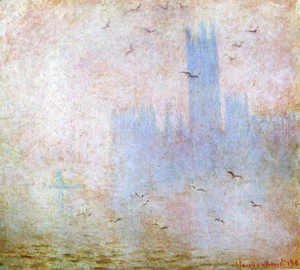 Claude Oscar Monet - Houses of Parliament, Seagulls