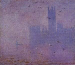 Claude Oscar Monet - Houses of Parliament, Seagulls I