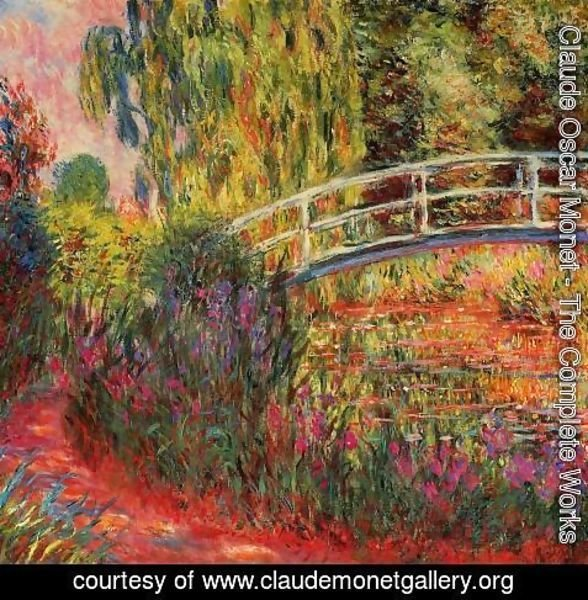 Claude Oscar Monet - Water-Lily Pond, Water Irises