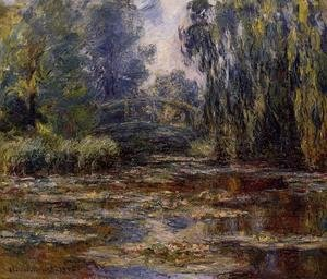 Claude Oscar Monet - The Water-Lily Pond and Bridge 2