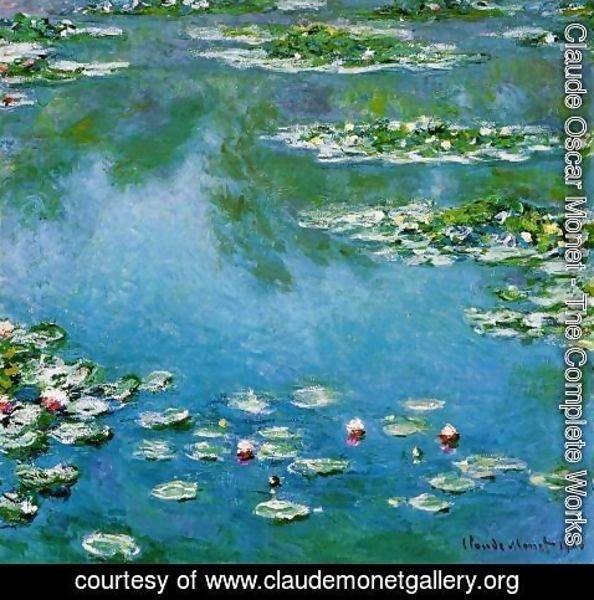 Claude Oscar Monet - Water-Lilies XV