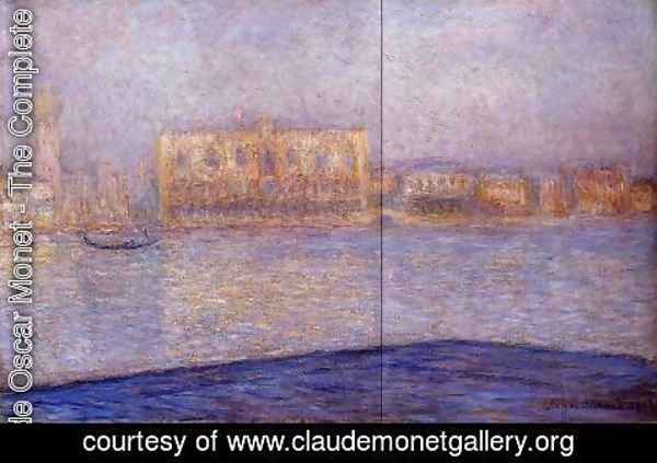 Claude Oscar Monet - The Doges' Palace Seen from San Giorgio Maggiore I