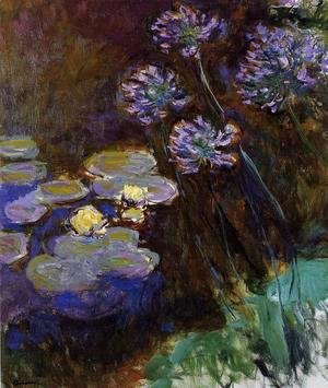 Claude Oscar Monet - Water-Lilies and Agapanthus