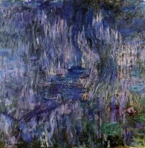Claude Oscar Monet - Water-Lilies, Reflection of a Weeping Willow