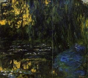 Claude Oscar Monet - Weeping Willow and Water-Lily Pond (detail)