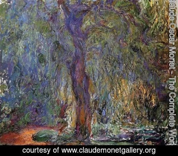 Claude Oscar Monet - Weeping Willow IV