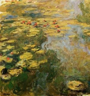 Claude Oscar Monet - The Water-Lily Pond (left side)