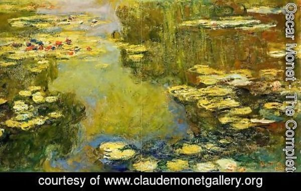 Claude Oscar Monet - The Water-Lily Pond (detail) I