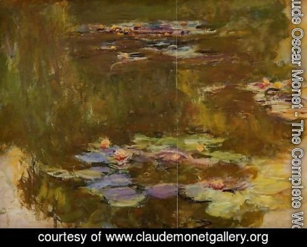 Claude Oscar Monet - The Water-Lily Pond (right side)