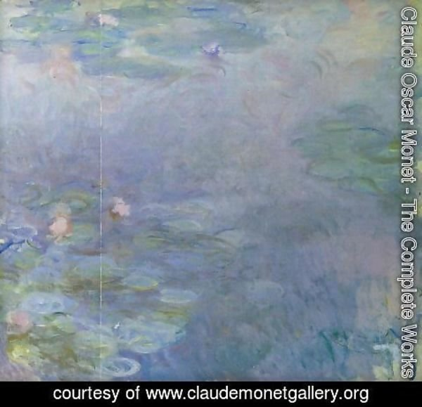 Claude Oscar Monet - Pale Water-Lilies (detail)