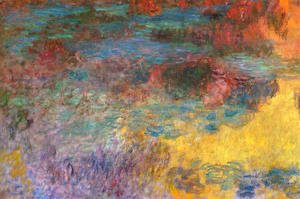 Claude Oscar Monet - Water-Lily Pond, Evening (left panel)