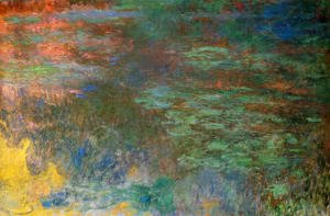 Claude Oscar Monet - Water-Lily Pond, Evening (right panel)