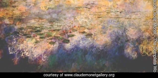 Reflections of Clouds on the Water-Lily Pond (tryptich, center panel)