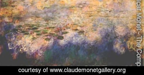 Claude Oscar Monet - Reflections of Clouds on the Water-Lily Pond (tryptich, center panel)