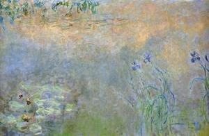 Claude Oscar Monet - Water-Lily Pond with Irises 2