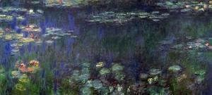 Claude Oscar Monet - Green Reflection (left half)