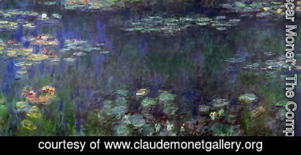 Claude Oscar Monet - Green Reflection (right half)