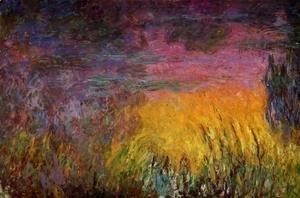 Claude Oscar Monet - Sunset (left half)