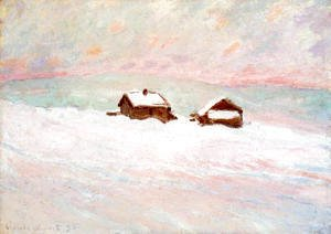 Claude Oscar Monet - Houses in the Snow, Norway