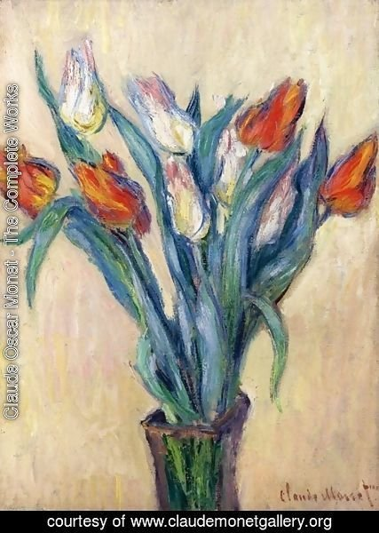 Claude Oscar Monet - Vase of Tulips I