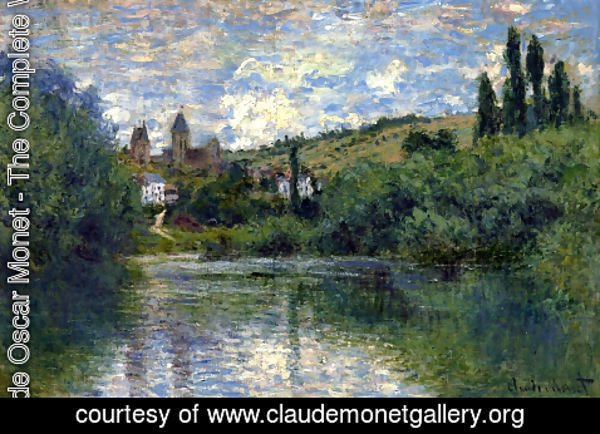 Claude Oscar Monet - View of Vetheuil I
