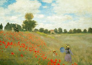 Claude Oscar Monet - Field of Poppies