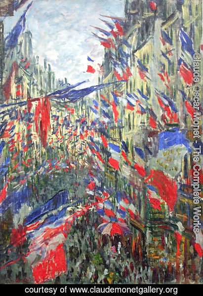 Claude Oscar Monet - Rue Montargueil with Flags